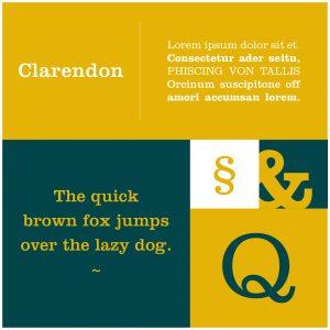 Font Clarendon