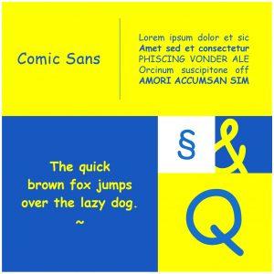 Scheda Font del Mese - Comic Sans