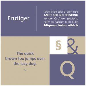 Font del Mese - Frutiger