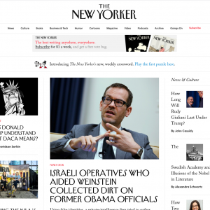 Il font tipografico del New Yorker è molto particolare